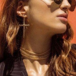 large cross earrings